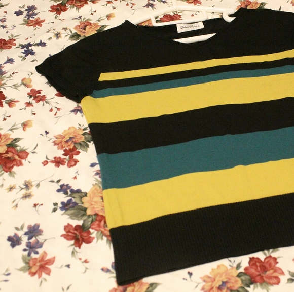 striped knit top🌼$5 add-on